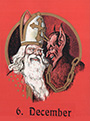 Saint Nicholas accompanied by Krampus